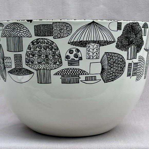 Vintage Arabia Finel Finland Enamel Mushroom Bowl